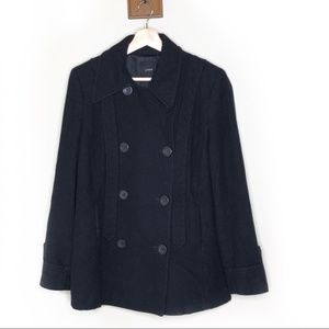 J. Crew black double breasted wool pea coat